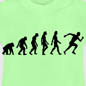 Leaf green Evolution of Running (1c) Bags  - Baby T-Shirt
