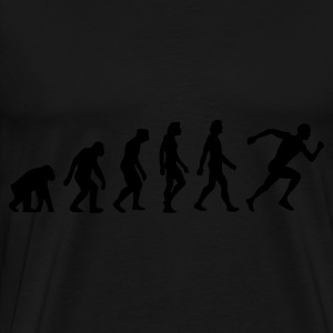 Black Evolution of Running (1c)  Aprons - Men's Premium T-Shirt