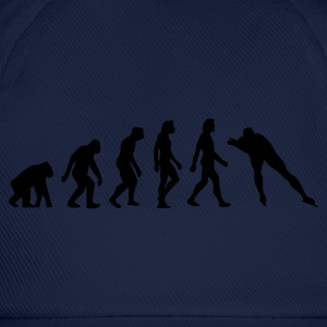 Navy Evolution of Skating (1c) T-shirts - Baseballcap