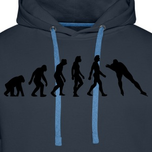 Navy Evolution of Skating (1c) T-shirts - Mannen Premium hoodie