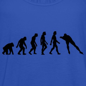 Navy Evolution of Skating (1c) Men's T-Shirts - Women's Tank Top by Bella
