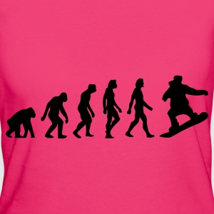 Evolution of Snowboarding (1c) Bags  - Women's Organic T-shirt