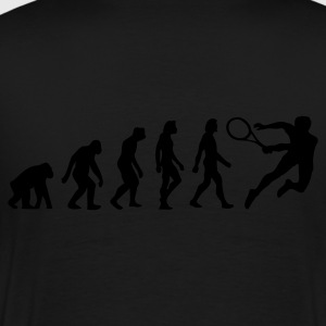 Black Evolution of Tennis (1c) Polo Shirts - Men's Premium T-Shirt