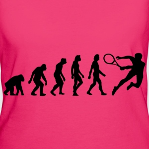 Jeansblauw Evolution of Tennis (1c) Tassen - Vrouwen Bio-T-shirt