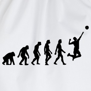 Vit Evolution of Volleyball (1c) T-shirts - Gymnastikpåse