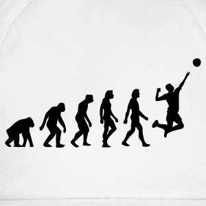 Weiß Evolution of Volleyball (1c) T-Shirts - Baseballkappe