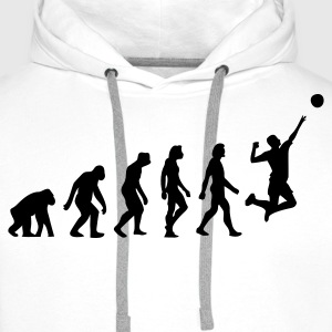 Weiß Evolution of Volleyball (1c) T-Shirts - Männer Premium Hoodie