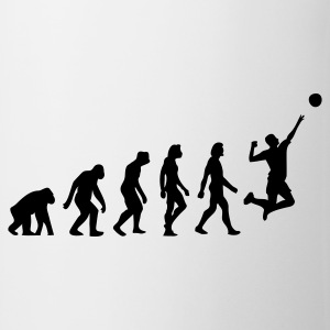 Wit Evolution of Volleyball (1c) T-shirts - Mok