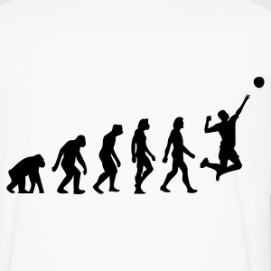 Hvit Evolution of Volleyball (1c) T-skjorter - Premium langermet T-skjorte for menn