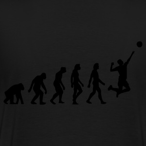 Schwarz Evolution of Volleyball (1c) Pullover - Männer Premium T-Shirt