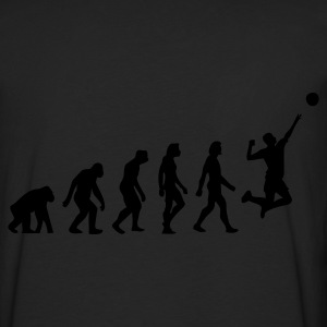 Negro Evolution of Volleyball (1c) Sudadera - Camiseta de manga larga premium hombre
