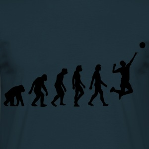 Azul marino Evolution of Volleyball (1c) Delantales - Camiseta hombre