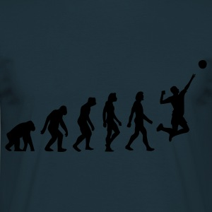 Navy Evolution of Volleyball (1c) Schürzen - Männer T-Shirt