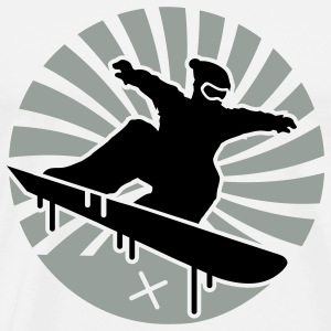 Sky/navy snowboarding Long sleeve shirts - Men's Premium T-Shirt