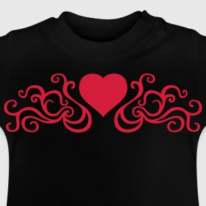 Schwarz tribal_heart_1c Kinder T-Shirts - Baby T-Shirt
