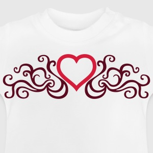 Weiß tribal_heart_2c Kinder T-Shirts - Baby T-Shirt