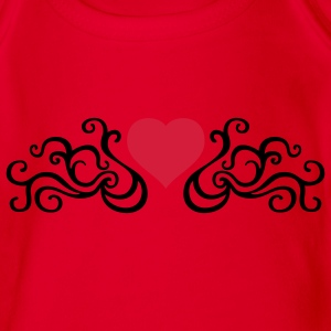 tribal_heart_e_2c Shirts - Organic Short-sleeved Baby Bodysuit