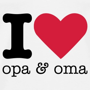 I Love Opa & Oma Baby body - Mannen Premium T-shirt