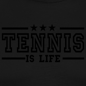 Sort tennis is life deluxe Forklæder - Herre premium T-shirt