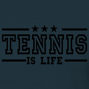 Navy tennis is life deluxe Coats & Jackets - Men's T-Shirt