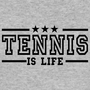 Grau meliert tennis is life deluxe Pullover - Männer Slim Fit T-Shirt