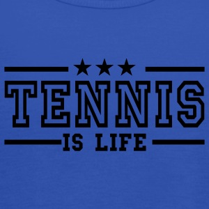 Navy tennis is life deluxe T-shirts - Vrouwen tank top van Bella