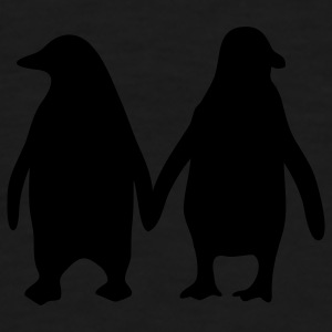 Penguins in love - love each other penguins Underwear - Men's Premium T-Shirt