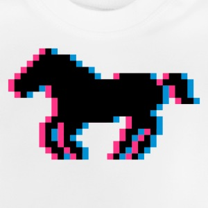Pixel horse riding horse pony riding Kids' Tops - Baby T-Shirt