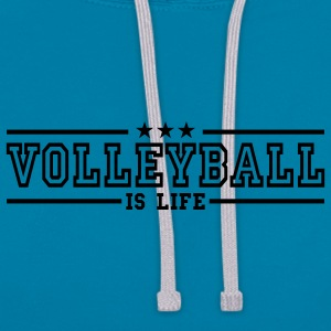 volleyball is life deluxe T-shirts - Kontrast-hættetrøje