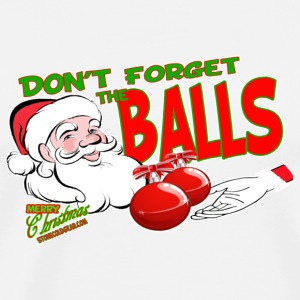 Don't Forget the Christmas Balls - Men's Premium T-Shirt