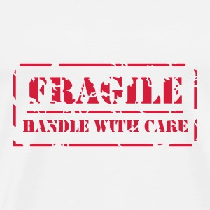 Tragetasche Handle with care - Männer Premium T-Shirt