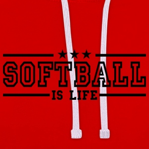softball is life deluxe T-shirts - Contrast hoodie