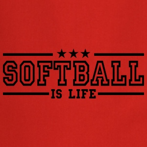 softball is life deluxe T-shirts - Forklæde