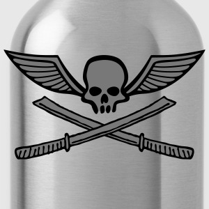 wingskull_comic_sword_samurai_2c Hoodies & Sweatshirts - Water Bottle