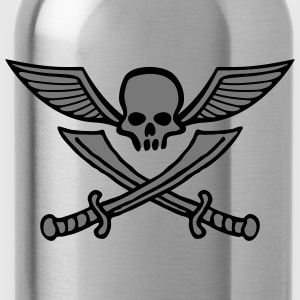 wingskull_comic_sword_2c Shirts - Water Bottle