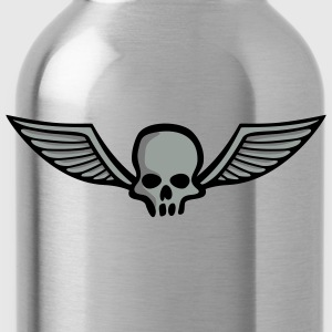 wingskull_comic_3c T-Shirts - Water Bottle