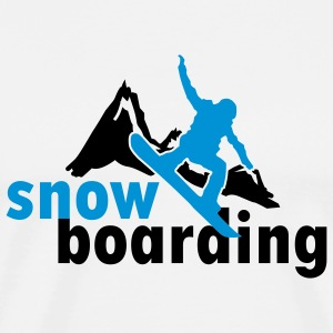 Snowboarding mountains (2 colors) Shirts med lange ærmer - Herre premium T-shirt