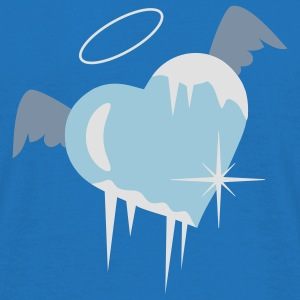 Cold heart with a halo, wings and icicles Hoodies & Sweatshirts - Men's T-Shirt