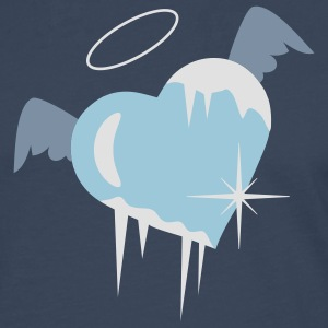 Cold heart with a halo, wings and icicles  Aprons - Men's Premium Longsleeve Shirt