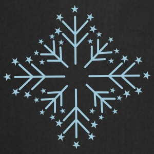 Snowflake with Stars Umbrellas - Cooking Apron