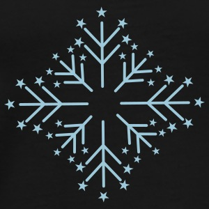 Snowflake with Stars Umbrellas - Men's Premium T-Shirt