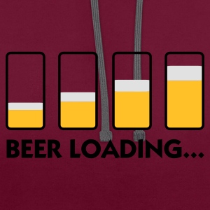 Beer Loading (3c) Bags  - Contrast Colour Hoodie