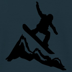 snowboard mountains jump Jacken - Männer T-Shirt