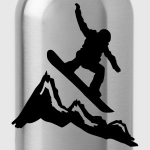 snowboard mountains jump Baby body - Drinkfles