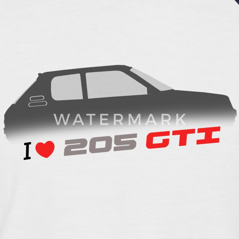 I love 205 gti - Men's Baseball T-Shirt