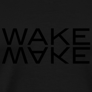 wake make Sweaters - Mannen Premium T-shirt
