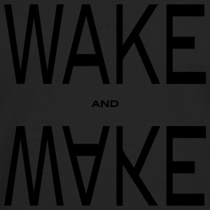 wake and make T-skjorter - Premium langermet T-skjorte for menn