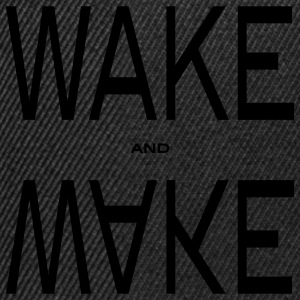 wake and make T-skjorter - Snapback-caps
