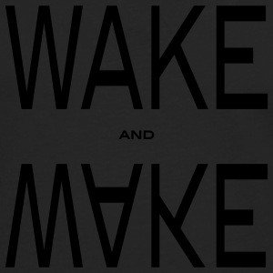wake and make Gensere - Premium langermet T-skjorte for menn