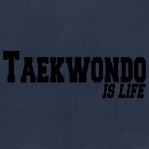 taekwondo is life Vesker - Premium singlet for menn